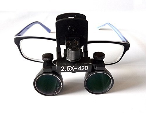 Doc.Royal Surgical Medical Binocular Clip Loupes Lab Head Magnifier w/Clip-on 2.5X420mm DY-109 by Doc.Royal (Image #7)