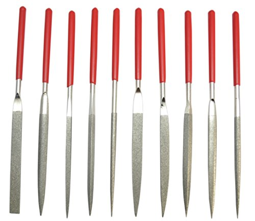 Diamond Needle Files Set of 10 Assorted by Grobet USA
