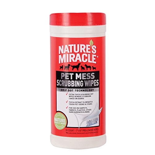 Nature's Miracle 30 Count Pet Mess Scrubbing Wipes