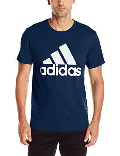 adidas Men's Badge of Sport Graphic Tee, Collegiate Navy/Clear Grey/White, Small