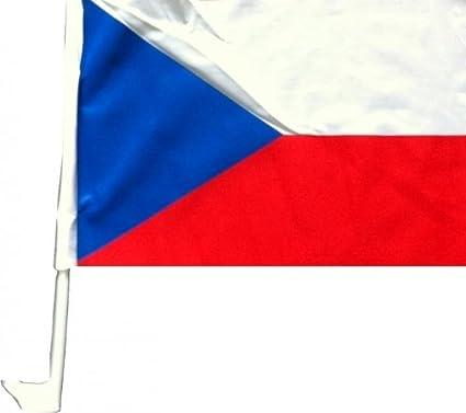 Nfp 2 X Autofahne Autoflagge 45 X 30 Tschechien Auto Fahne Fahnen Flagge Flaggen Em 2016 Mit Halterung Sport Freizeit