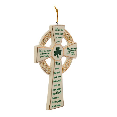 Kurt Adler 5.12-Inch Porcelain Irish Cross Ornament (YAMJ4102) ()
