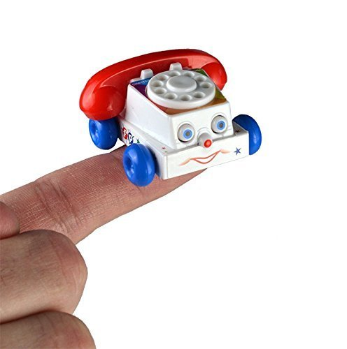 Chatter Telephone Miniature Edition- Pocket Sized Toy Phone Includes Friendly Face and Ringing Spin Dial by Worlds Smallest