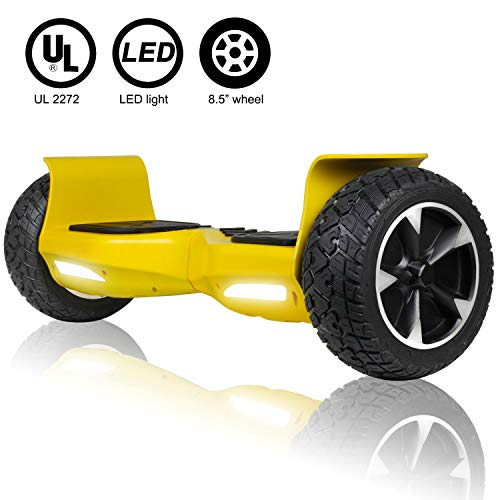 UNI-SUN Off Road Hoverboard, Bluetooth Hoverboard for Kids, All Terrain Hoverboard, 8.5 Inch Two-Wheel Self Balancing…