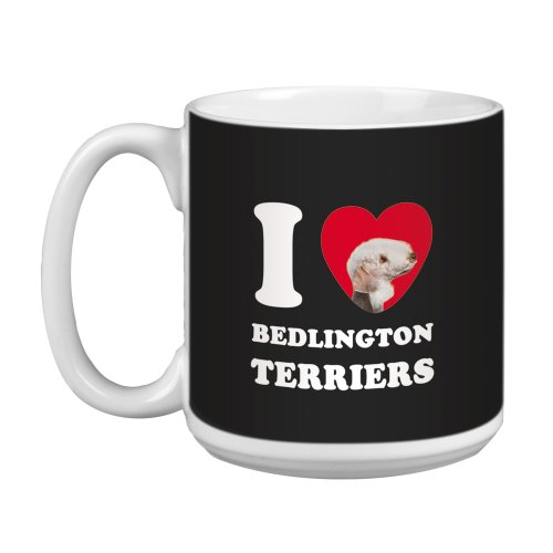 Tree Free Greetings XM29007 I Heart Bedlington Terriers Artful Jumbo Mug, 20-Ounce