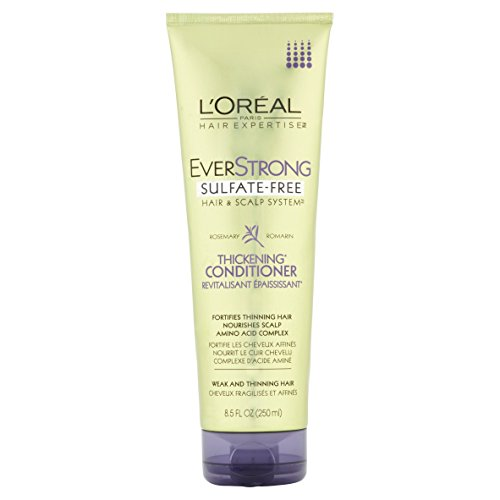 8.5 Ounce Volume Conditioner (L'Oreal Paris EverStrong Sulfate Free Thickening Conditioner, Rosemary 8.5 Fluid Ounce)