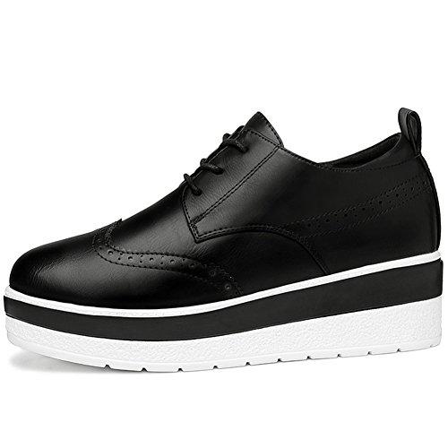 U-mac Mujer Sneakers Anti-slip IncreHombresto En El Interior Zapatos Planos Zapatos Casuales Negro