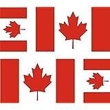 4 x Autocollant sticker voiture moto valise pc portable drapeau canada canadien