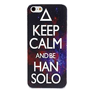 KEEP CALM Pattern Transparent Frame Hard Case for iPhone 5/5S