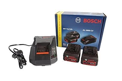 BOSCH Power Set 18v 0615990FP8 - Cargador para heramientas inalámbricas (2 baterías de 4,0 Ah incluidas)