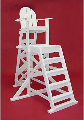 Tailwind Furniture Recycled Plastic TLG535 Tall Lifeguard Chair - with Front Ladder - Seat Height: 64
