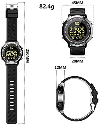 ZRSJ Reloj Inteligente EX18 Podómetro Impermeable Bluetooth Smartwatch Call SMS Reminder Muñequera Seguimiento de Actividad Reloj Deportivo Compatible ...