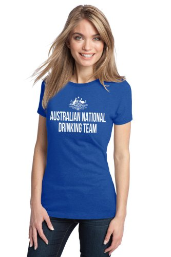 AUSTRALIAN NATIONAL DRINKING TEAM Ladies' T-shirt / Funny Australia Beer Tee Shirt