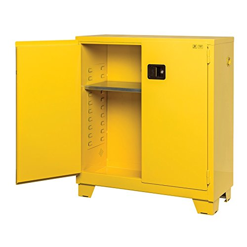 New Pig CAB727 18-Gauge Steel Highrise Flammable Safety Cabinet with Self Close Door, 30 Gallon Capacity, 43