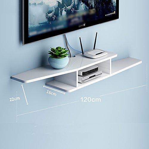 LIANGJUN 壁掛け棚 木製 リビングルーム 背景壁、 使用可能な9種類 ( 色 : 120cm-white-2# ) B07BHN97CP 22630 120cm-white-2# 120cmwhite2#