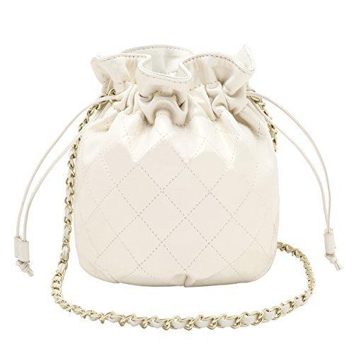 Wedding Bags J Bag amp;f Crossbody Small Shoulder Bucket Ladies Cute Leather For Drawstring Women Chain F6XwF