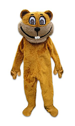 cjs huggables Mascots USA Custom Pro Low Cost Gopher Digger Mascot Costume by cjs huggables