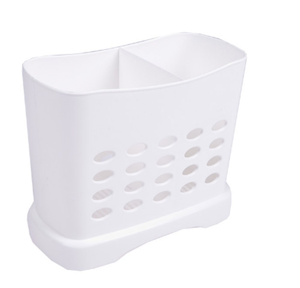 "Chopsticks Straws Utensil Holder Basket for Dishwashers L6.3"" X H5.3"" X W3"" Large Capacity 2 Divided Compartments"