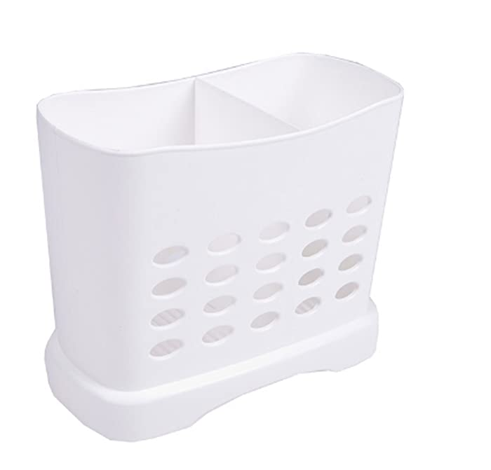 """Chopsticks Straws Utensil Holder Basket for Dishwashers L6.3"""" X H5.3"""" X W3"""" Large Capacity 2 Divided Compartments"""