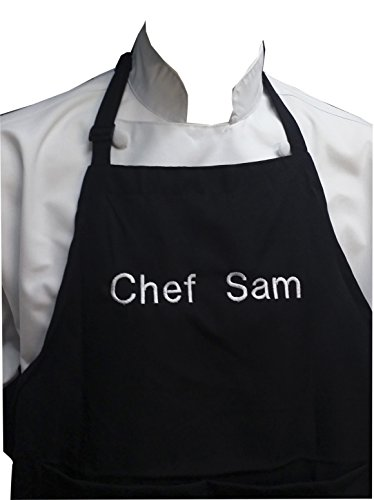 Chefskin Personalized Adults Apron Lightweight Choose Color Name Font Size, Customisable Custom