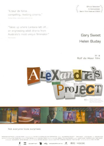 Alexandra's Project Movie Poster (27 x 40 Inches - 69cm x 102cm) (2003) -(Gary Sweet)(Helen Buday)(Bogdan Koca)(Samantha Knigge)(Eileen Darley)(Geoff Revell)