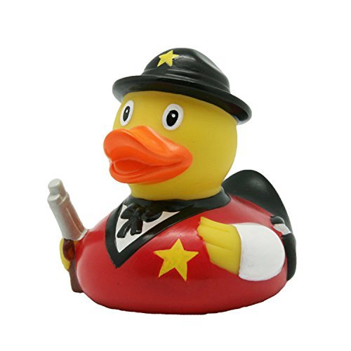Lilalu 8 x 8 cm/50 g Collector and Baby Sheriff Rubber Duck Bath Toy by Lilalu [並行輸入品]   B017DW7QF4
