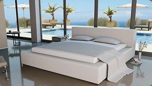 Doppelbett weiß  Lederbetten Polsterbett Designer Leder Bett Doppelbett Modell in ...