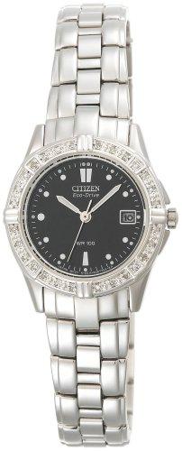 Watch Steel Stainless Chronograph Diamond (Citizen Women's EW1390-55E Eco-Drive Miramar Diamond Accented Stainless Steel Watch)
