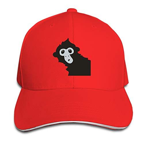 COLG Spider Monkey Adjustable Sandwich Baseball Cap Cotton Snapback Peaked Hat ()