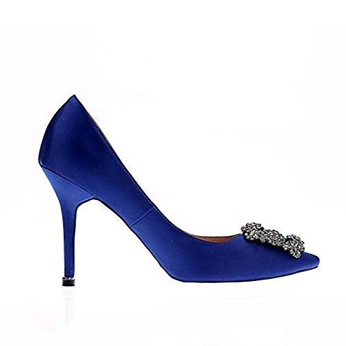 Vaneel Femme Cikume 12CM Aiguille Glisser Sur Escarpins Chaussures Bleu VAVcA1
