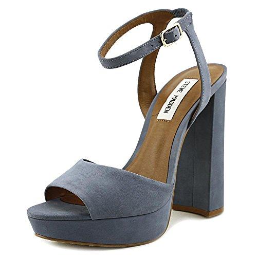 Steve Madden Womens Brrit Sandalo Blu Chiaro