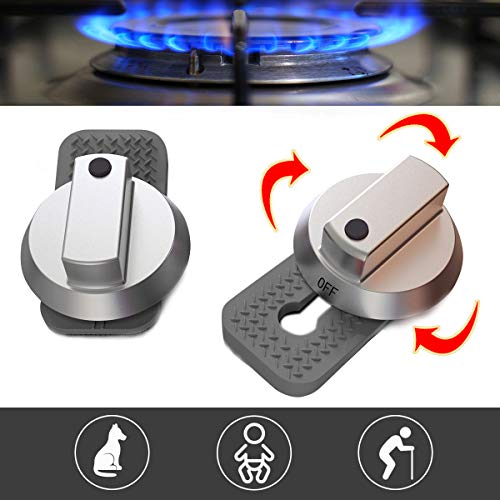 Stove Guard Oven Lock Child Safety Burner Knob Locks Heatproof Anti-Break for Kids Elderly Pet Toddlers Alzheimers Large Universal Design - Baby Proof (Gray)