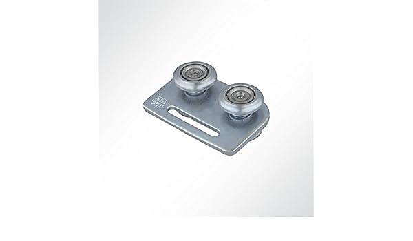 Lysel X0700T galvanizado con Ranura para Puerta corredera, portería Ruedas para Perfil 48 x 48 mm: Amazon.es: Juguetes y juegos