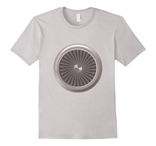 Men's Jet Engine T-Shirt Small Silver