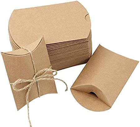 JTDEAL 50 Cajas para Regalo y 50 Cuerda de Yute(64cm), Bolsas de Regalo, Cajas de Papel Kraft Vintage, para Boda Favor Fiesta, para Regalos Pequeñitos de Boda/Cumpleaños/Fiesta - Marrón: Amazon.es: Hogar