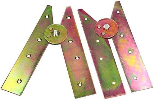 KOTARBAU - 2 bisagras de escalera de 200 mm de color amarillo, galvanizadas, cinta de escalera plegable, apertura sin ganchos, bisagras de escalera: Amazon.es: Bricolaje y herramientas