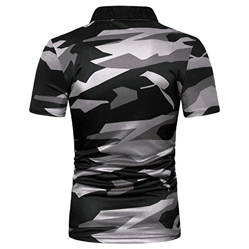 Polo Homme,Camouflage Bande Hommes Grande Taille Chemisier Top Casual Polo Militaire Quick Dry Respirant Et Imperméable… 2