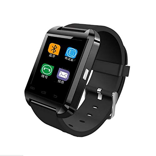 Roseni Multifunction Bluetooth Sports Smart Watch Heart Rate Monitor Fitness Tracker (Black)