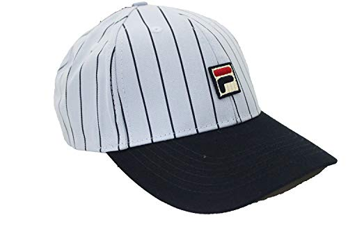 Fila Unisex Two Tone Striped Heritage Adjustable Baseball Cap hat with Embroidered Logo (Cashmere ()