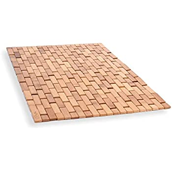 Amazon Com Interdesign Formbu Bamboo Floor Mat Non Skid