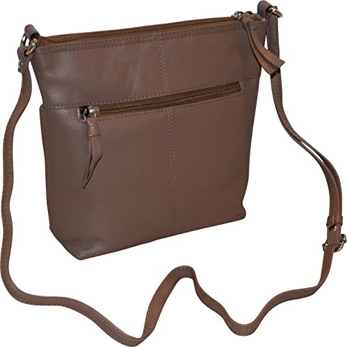 Ii Crossbody Genuine Fashion Leather Women's Taupe Bag Bucket qIwwv0