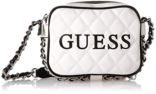 GUESS Sweet Candy Multi Mini Crossbody Top Zip, White, One Size