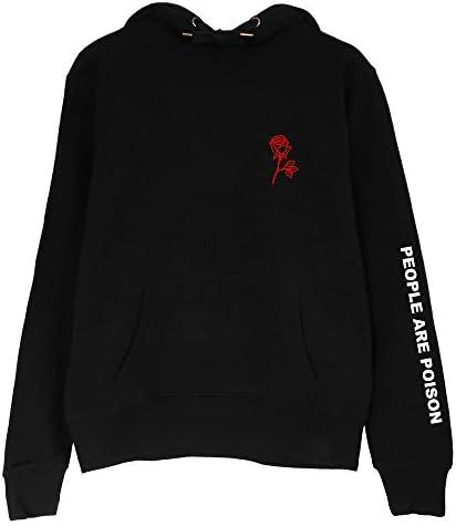 ZEZKT Hoodie Femme, Sweat Shirts Rose Sweats à Capuche Pull en Coton Sweat Capuche Chic Veste Chemise T Shirt Tops
