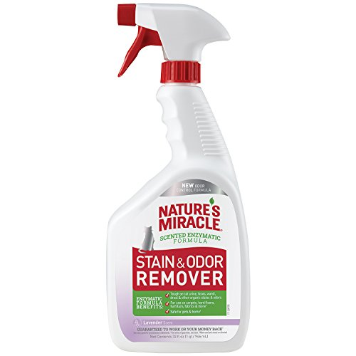 Nature's Miracle Stain and Odor Remover Cat, Odor Control Formula, Lavender Scent