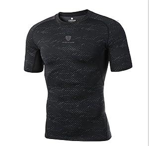 FANMURAN Tight T Shirt Men 3D Stylish Grid Design Clothing Camisetas Quick Dry Short Sleeve T-Shirt Tees