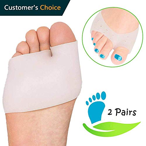 - Metatarsal Foot Pads Set, Soft Ball of Foot Cushions Forefoot Pads Insoles for Blister Prevention, Callus Prevention, Foot Support, Foot Pain Relief (4 Pcs) (Metatarsal Pads)