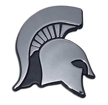 amazon com michigan state university spartan head logo chrome rh amazon com msu spartan head logo Printable Spartan Head Logo