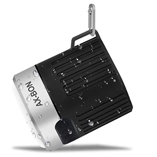 Waterproof Bluetooth Speaker, AX-Bon Portable Outdoor HiFi Speaker with 66-Foot Bluetooth Range,6-10 Hour Playtime,Outdoor Camping Emergency Light