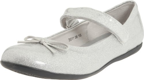 Kid Express Josie Mary Jane (Toddler/Little Kid/Big Kid),Silver Glitter Patent,24 EU (8-8.5 M US (Express Kids Shoes)
