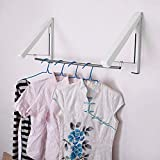 Hangers Racks - 1pcs Multifunctional Stainless Steel Mini Clothes Hanger Foldable Telescopic Design - Clothes Business For